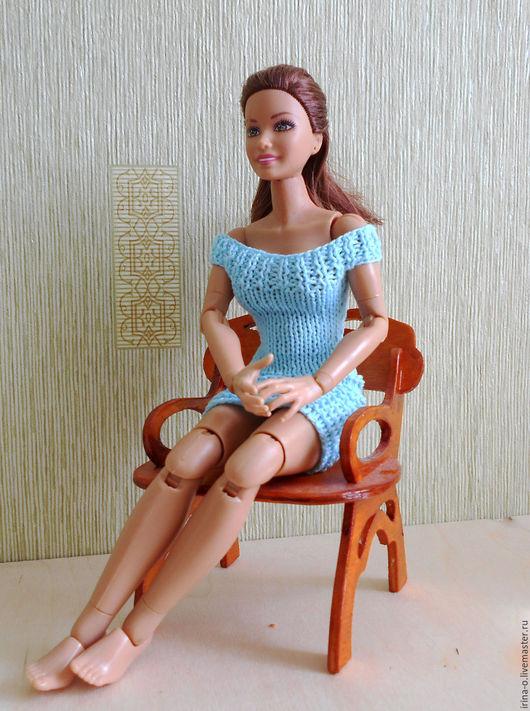 Одежда для кукол ручной работы. Ярмарка Мастеров - ручная работа. Купить Вязаные платья для кукол типа Барби, Лив. Handmade.