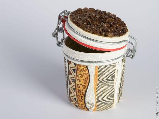 Конфетницы, сахарницы ручной работы. Ярмарка Мастеров - ручная работа. Купить Банка для хранения кофе. Handmade. Бежевый, банка для кофе