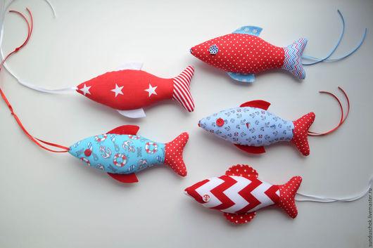 Детская ручной работы. Ярмарка Мастеров - ручная работа. Купить Текстильные морские рыбки  для оформления детской комнаты. Handmade. море