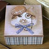 Для дома и интерьера ручной работы. Ярмарка Мастеров - ручная работа Шкатулка Джентльмен. Handmade.