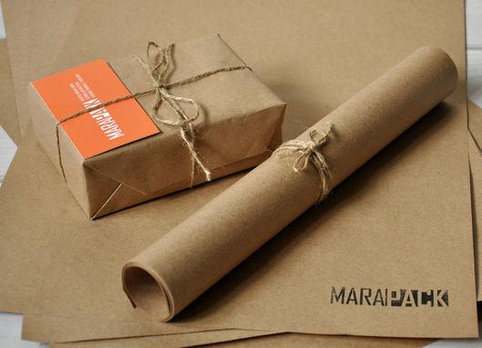 Упаковка ручной работы. Ярмарка Мастеров - ручная работа. Купить Крафт бумага в листах А3 (297х420 мм). Handmade. Коричневый