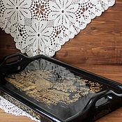 """Для дома и интерьера handmade. Livemaster - original item Столик поднос для завтрака """" Сакура цветет"""". Handmade."""