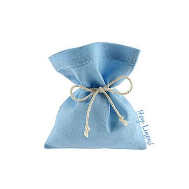 Souvenirs and gifts handmade. Livemaster - original item 10h12sm10sht. Cotton bags, blue, heavenly. Handmade.