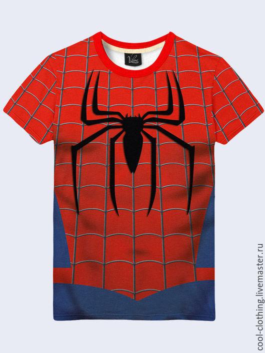 """Футболки, майки ручной работы. Ярмарка Мастеров - ручная работа. Купить Мужская футболка """"Человек-паук"""". Handmade. Рисунок, футболка"""