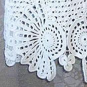 Одежда ручной работы. Ярмарка Мастеров - ручная работа Белая вязаная юбка. Handmade.