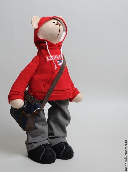 Куклы Тильды ручной работы. Ярмарка Мастеров - ручная работа. Купить Мишка портретный. Handmade. Ярко-красный, портрет, медведь