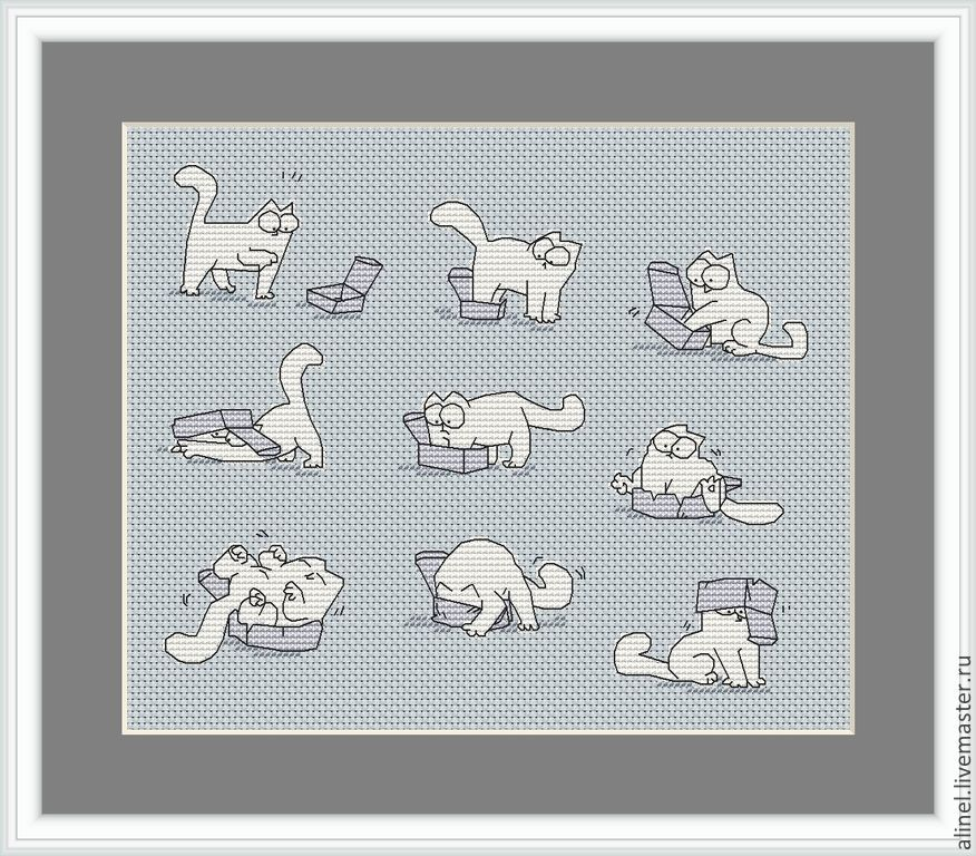 Кот саймон схема вышивки фото 620