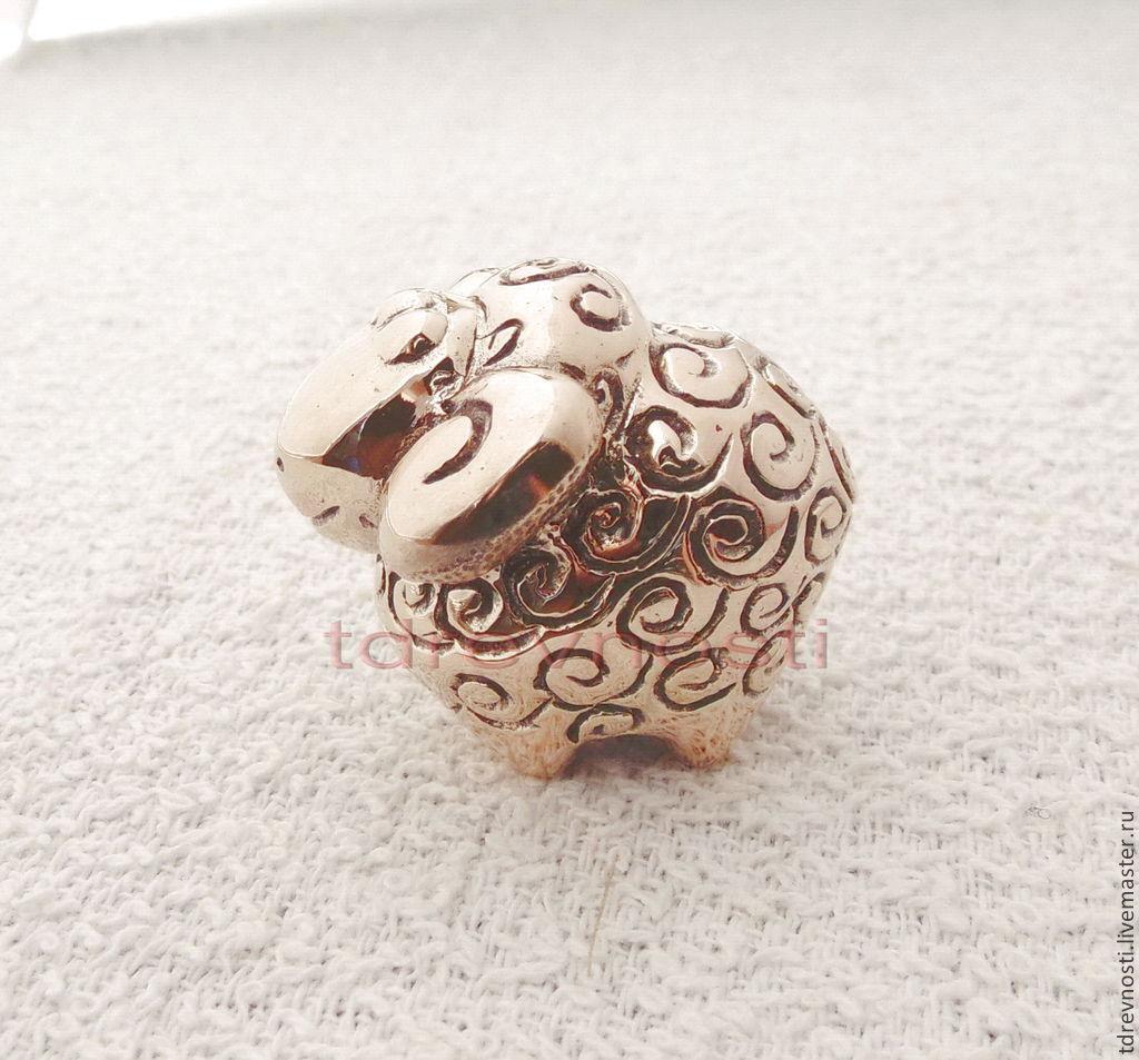 Статуэтки ручной работы. Ярмарка Мастеров - ручная работа. Купить Барашек миниатюрная статуэтка. Handmade. Литье, барашек, барашка, игрушка