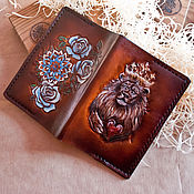 Канцелярские товары handmade. Livemaster - original item Leather cover passport cover documents. Handmade.
