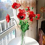 Цветы и флористика ручной работы. Ярмарка Мастеров - ручная работа Маки из полимерной глины. Handmade.