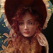 Куклы и игрушки ручной работы. Ярмарка Мастеров - ручная работа Барышня ( кукла в винтажном стиле). Handmade.
