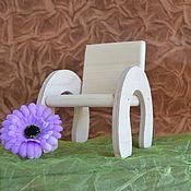 Материалы для творчества ручной работы. Ярмарка Мастеров - ручная работа Заготовка деревянная кресло для куклы. Handmade.