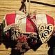"""Новый год 2017 ручной работы. Ярмарка Мастеров - ручная работа. Купить Интерьерная подушка """"Рождественские олени"""". Handmade. Подушка"""