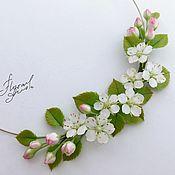 """Украшения handmade. Livemaster - original item Колье """"Ароматы весны"""" с яблоневым цветом. Handmade."""