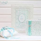Свадебный салон ручной работы. Ярмарка Мастеров - ручная работа Свадебный комплект в мятно-белой цветовой гамме. Handmade.