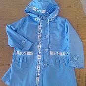 Одежда ручной работы. Ярмарка Мастеров - ручная работа Голубой плащ для девочки. Handmade.