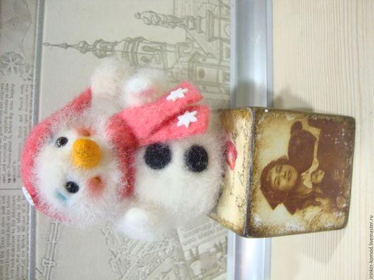 Человечки ручной работы. Ярмарка Мастеров - ручная работа. Купить Снежик. Handmade. Белый, интерьерная кукла