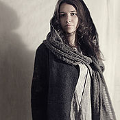 handmade. Livemaster - original item Scarf-hood, Knitted Scarf with felted hood. Handmade.