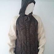 Одежда handmade. Livemaster - original item Hooded sweater. sheep wool 100%. Handmade.