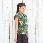 Одежда ручной работы. Ярмарка Мастеров - ручная работа Жилетка милитари, жилет женский. Handmade.