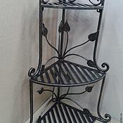 Для дома и интерьера ручной работы. Ярмарка Мастеров - ручная работа Полка консольная угловая (кованая)). Handmade.