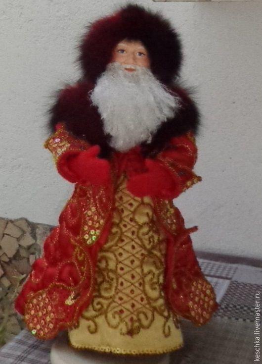 Коллекционные куклы ручной работы. Ярмарка Мастеров - ручная работа. Купить Дед Мороз. Handmade. Ярко-красный, рождество