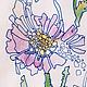 Картины цветов ручной работы. Заказать хризантемка. Олеся Тарасова (o-lissa). Ярмарка Мастеров. Цветок, графика, нежный, акварель