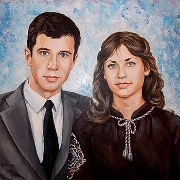 Картины и панно ручной работы. Ярмарка Мастеров - ручная работа Портрет акрилом на холсте по фотографии. Handmade.