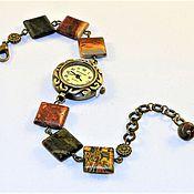 Часы наручные ручной работы. Ярмарка Мастеров - ручная работа Часы с Яшмой Пикассо. Handmade.
