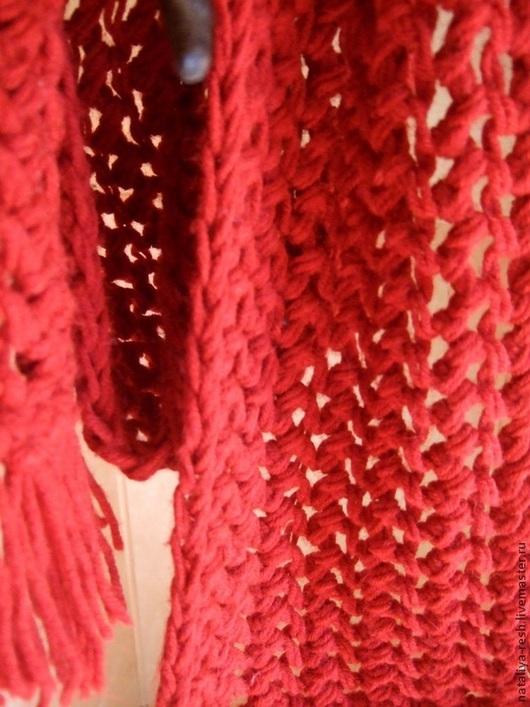 """Шарфы и шарфики ручной работы. Ярмарка Мастеров - ручная работа. Купить Шарф """"Алый"""". Handmade. Шарф, шарф красный"""