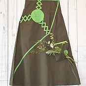 Одежда ручной работы. Ярмарка Мастеров - ручная работа Юбка длинная Весенняя зелень. Handmade.