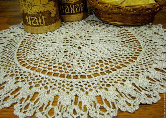 Текстиль, ковры ручной работы. Ярмарка Мастеров - ручная работа. Купить Льняная салфетка в винтажном стиле. Handmade. Бежевый, салфетка