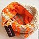 """Шарфы и шарфики ручной работы. Ярмарка Мастеров - ручная работа. Купить Шарф-снуд """"Energy Orange"""" в два оборота. Handmade."""