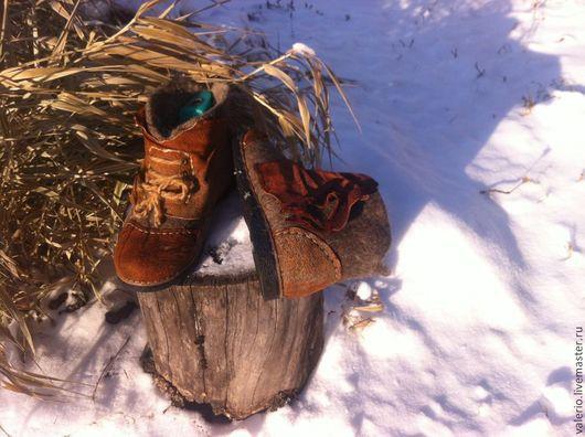 Обувь ручной работы. Ярмарка Мастеров - ручная работа. Купить Шаман. Handmade. Серый, обувь, кожа