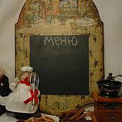 """Для дома и интерьера ручной работы. Ярмарка Мастеров - ручная работа Грифельная доска """"CAFE"""". Handmade."""