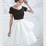 Одежда ручной работы. Ярмарка Мастеров - ручная работа Белая юбка миди. Неопрен.. Handmade.