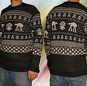Одежда ручной работы. Ярмарка Мастеров - ручная работа Тату-свитер - Звезда Смерти (Звёздные войны). Handmade.