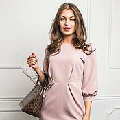 Одежда ручной работы. Ярмарка Мастеров - ручная работа Платье-тюльпан розовое. Handmade.
