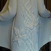 """Одежда ручной работы. Ярмарка Мастеров - ручная работа Пальто """"Белый Клематис"""". Handmade."""