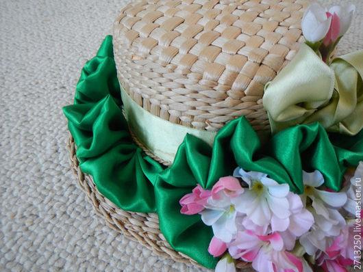 Шляпы ручной работы. Ярмарка Мастеров - ручная работа. Купить Цветочная шляпа. Handmade. Соломенная шляпка, для отдыха, шляпы для женщин