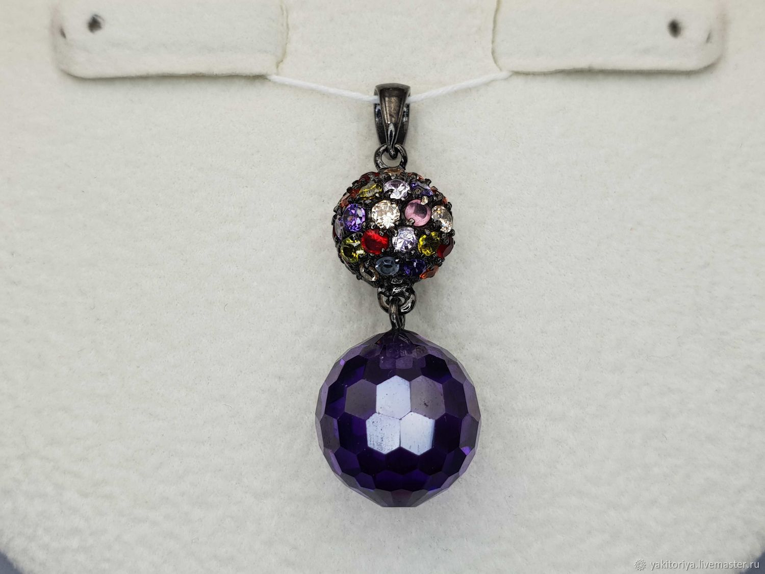 Pendant with topaz, amethyst, citrine, chrysolite and cubic zirconia, Pendants, Moscow,  Фото №1