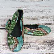 Обувь ручной работы. Ярмарка Мастеров - ручная работа Балетки из натуральной кожи питона. Handmade.