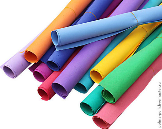 Другие виды рукоделия ручной работы. Ярмарка Мастеров - ручная работа. Купить Фоамиран 24 цвета. лист 50х50см. Handmade.