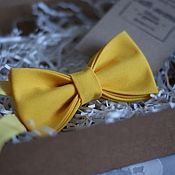 Галстуки ручной работы. Ярмарка Мастеров - ручная работа Галстук-бабочка желтая. Handmade.
