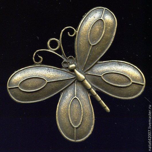 Для украшений ручной работы. Ярмарка Мастеров - ручная работа. Купить Бабочка большая. Handmade. Украшения ручной работы