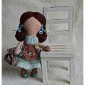 Куклы и игрушки ручной работы. Ярмарка Мастеров - ручная работа Куколка-малышка Tea mint, чайно-мятная девочка, мята, чай. Handmade.