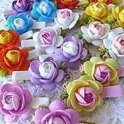 Работы для детей, ручной работы. Ярмарка Мастеров - ручная работа цветочкая заколочка. Handmade.