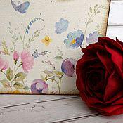 """Для дома и интерьера ручной работы. Ярмарка Мастеров - ручная работа """"Сельская акварелька"""" Короб для мелочей. Handmade."""