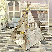 Мебель ручной работы. Ярмарка Мастеров - ручная работа Детский вигвам  - шалаш для малышей. Handmade.