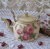"""Посуда handmade. Livemaster - original item """"Утренние розы""""-Чайник. Handmade."""
